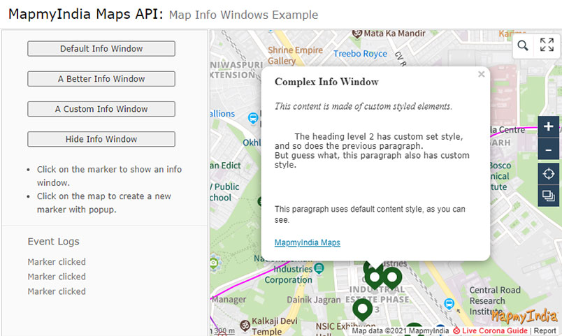 Maps JavaScript API Library for Desktop or Mobile Browser