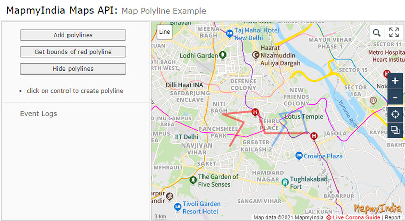 Maps JavaScript API Library for Desktop or Mobile Browser-MapmyIndia