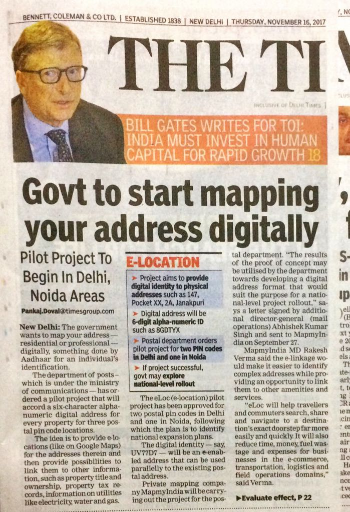 Times of India DOP partners with MapmyIndia